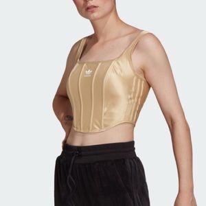 Adidas Corset Hazy Beige Gold Cropped Women's XL